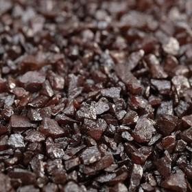 """Грунт декоративный  """"Шоколадный металлик"""" песок кварцевый, 250 г фр.1-3 мм"""