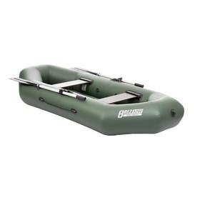 Лодка «Бриз А260», надувное дно, цвет зелёный