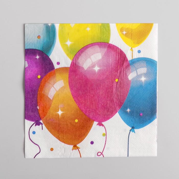 Салфетки бумажные Кристальные шары, набор 12 шт., 33х33 см