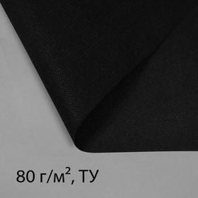 Полоса защитная для междурядий, плотность 80, УФ, 0,3 × 10 м, чёрный, Greengo, Эконом 20 % Ош