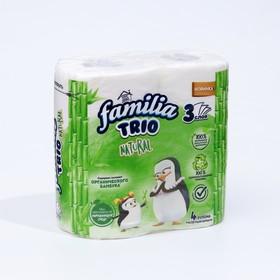 Туалетная бумага FAMILIA TRIO, 3 слоя, 4 рулона