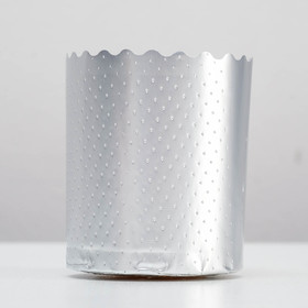 Форма для выпечки маффинов и кексов «Цветная», серебряный, 7 х 8,5 см