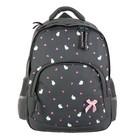 Рюкзак школьный Bruno Visconti, 40 х 30 х 16 см, эргономичная спинка, «Крольчата Милашки», серый
