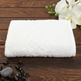 Полотенце махровое «Plait», цвет белый, 30х70 см
