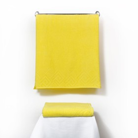 Полотенце махровое «Poseidon» 50х90, цвет жёлтый