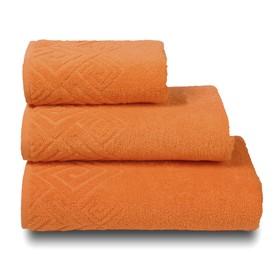 Полотенце махровое «Poseidon» цвет оранжевый, 50х90
