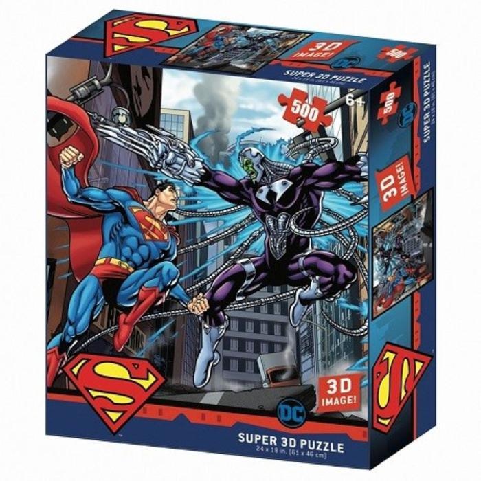 3D Пазл 500 элементов «Супермен против Брэйниака»