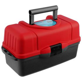 Ящик Helios трёхполочный, цвет красный Ош
