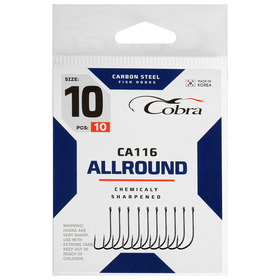Крючки Cobra ALLROUND сер. CA116  №10 10шт
