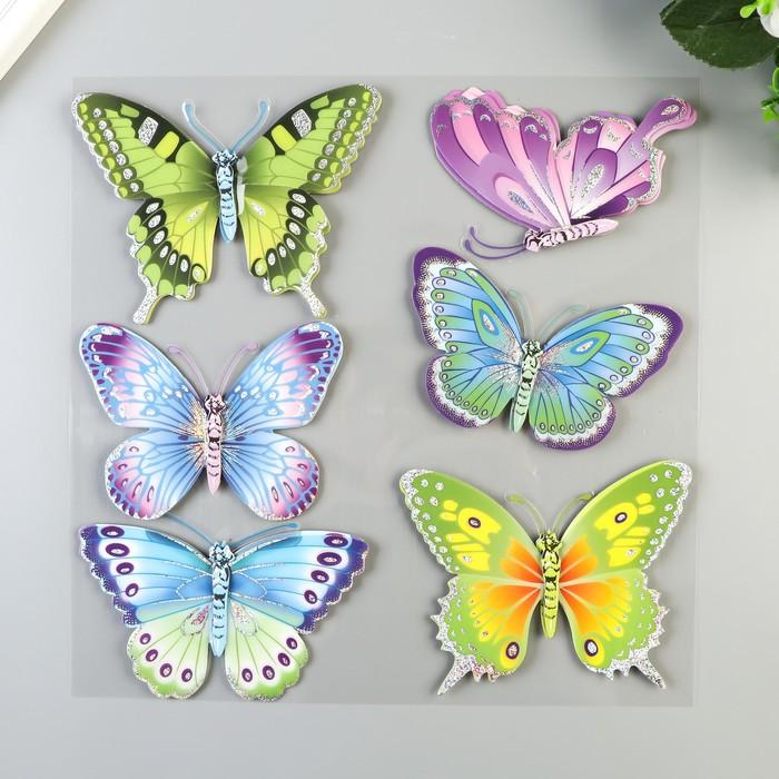 """3D Наклейки Room Decor """"Радужные бабочки"""" 30х30 см"""