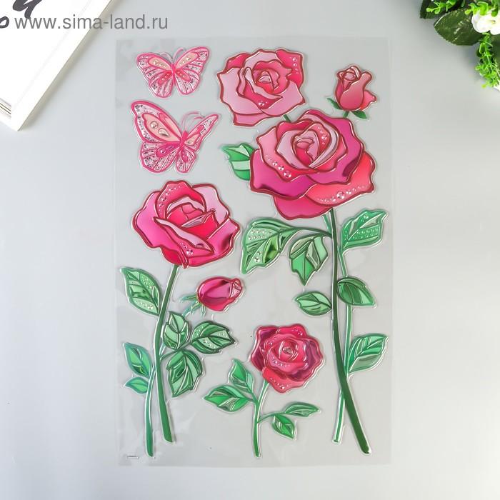 """Наклейки Room Decor """"Розы"""" 32х50 см"""