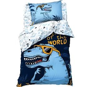 Постельное бельё «Этель» 1.5 сп T-Rex king 143*215 см, 150*214 см, 50*70 см -1 шт,100% хл, бязь