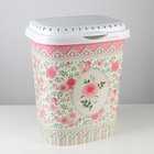 Корзина для белья с декором «Чайная роза», 40 л, 41×32×48 см