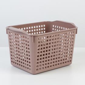 Корзина для хранения «Лофт», 2 л, цвет мокка