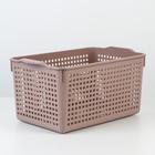 Корзина для хранения «Лофт», 5,3 л, 29,5×18,5×14,5 см, цвет мокка