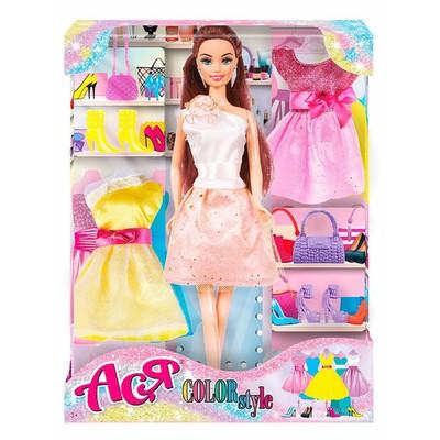 Кукла «Ася, яркий в моде», брюнетка, 28 см - Фото 1