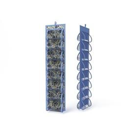 Кофр для колготок и мелочей «Грация», двусторонний, 16 карманов, 20х80 см Ош