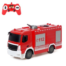 Машина радиоуправляемая «Пожарная охрана», стреляет водой, работает от аккумулятора