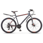 "Велосипед 26"" Stels Navigator-620 D, V010, цвет антрацитовый, размер 14"""