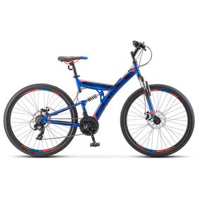 """Велосипед 27,5"""" Stels Focus MD, V010, цвет синий/неоновый-красный, размер 19"""""""