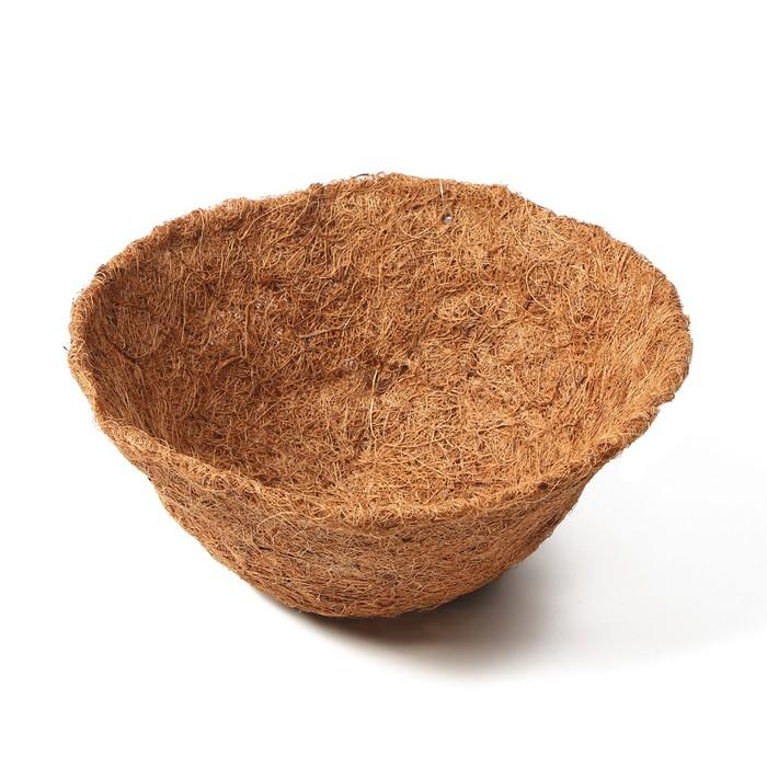 Вкладыш в кашпо, d = 25 см, кокос, «Усечённый Конус»