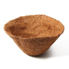Вкладыш в кашпо, d = 35 см, кокос, «Усечённый Конус» Ош