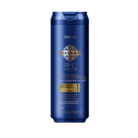 Шампунь с кератином для поврежденных волос Amend Gold Black RMC System Q+, 300 мл
