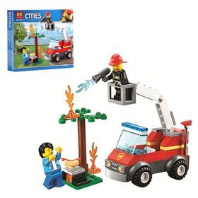 Конструктор Город «Пожарная машинка», 76 деталей