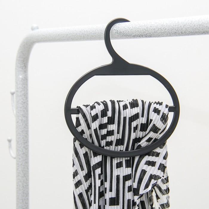 Вешалка для шарфов и палантинов с большим крючком, цвет чёрный