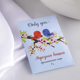 Саше ароматическое 'Only you', морозная вишня, вес 7 г, размер 7×10.5 см Ош