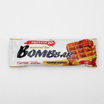 Протеиновый батончик BOMBBAR, венские вафли, 60 г - Фото 1
