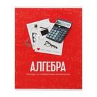 Тетрадь предметная «Фото», 48 листов в клетку «Алгебра» со справочным материалом, обложка мелованный картон, блок офсет