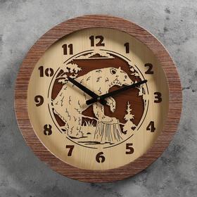 Часы настенные 'Медведь', d=41 см, плавный ход Ош