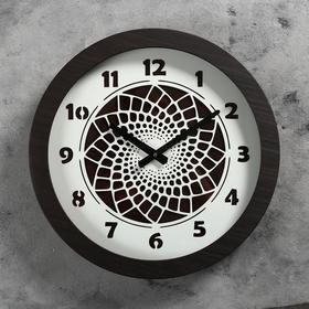Часы настенные 'Узор', d=41 см, плавный ход Ош