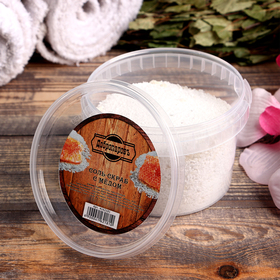 """Солевой скраб """"Добропаровъ"""" из белой каменной соли с мёдом, 550 гр"""