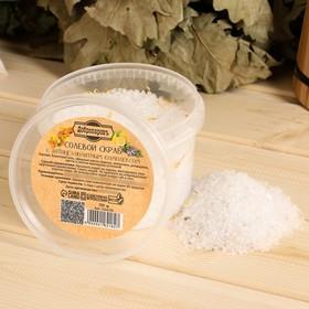 """Солевой скраб """"Добропаровъ"""" из белой каменной соли с маслом апельсина и травами, 550 гр"""