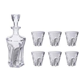 УЦЕНКА Набор для виски (графин, 6 бокалов 230 мл.), 39 × 35 × 15 см