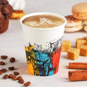 Стакан бумажный «Краски кафе», d=7см, 150 мл Ош