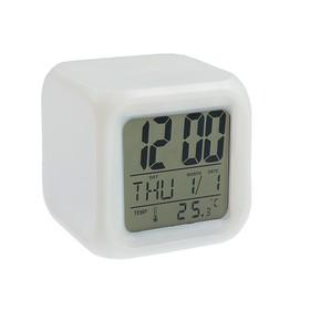 Будильник LuazON LB-03, дата, температура, белый Ош