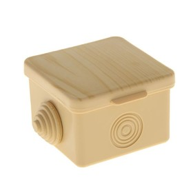 Коробка распределительная TUNDRA, 65х65х45 мм, IP54, открыт. установки, с мембр., цвет сосна  493834 Ош