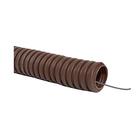 Труба гофрированная Uplast, ПВХ, d=16 мм, 10 м, легкая , с зондом, цвет дуб