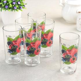 Набор стаканов «Ягодный фреш», 230 мл, 6 шт