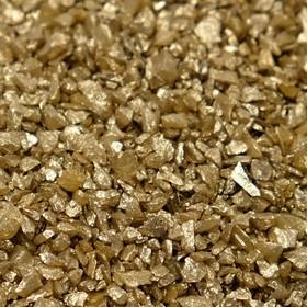 Грунт для аквариума 'Золотистый металлик'  декоративный песок кварцевый, 250 г фр.1-3 мм Ош