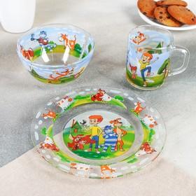 Набор посуды детский «Новое Простоквашино», 3 предмета
