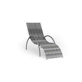 Шезлонг NICE, 195*70*95 см, цвет серый Ош