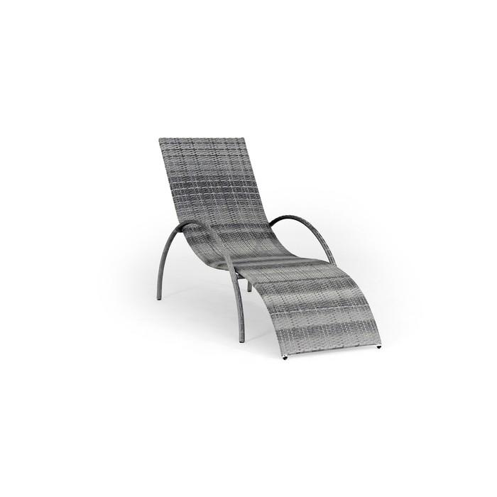 Шезлонг NICE, 195*70*95 см, цвет серый