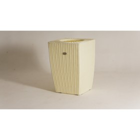 Кашпо, 57 × 57 × 85 см, цвет слоновая кость