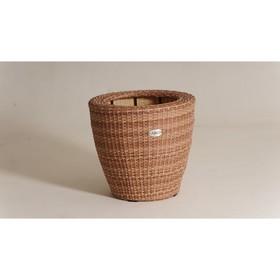 Кашпо круглое, 57 × 57 × 52 см, цвет капучино