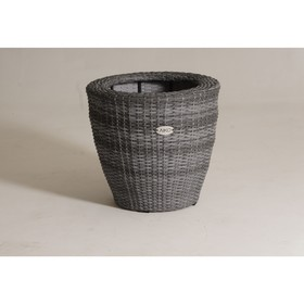 Кашпо круглое, 57 × 57 × 52 см, цвет серый