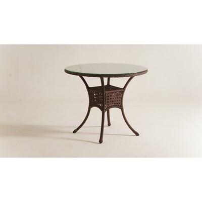 Стол обеденный DEKO круглый, d-90 см, цвет шоколад - Фото 1